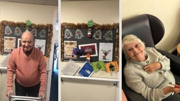 Falkirk care home Residents enjoyed Christmassy arts and crafts afternoon