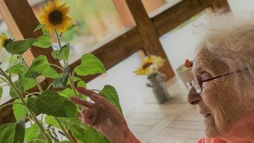 Flower power at Mayford care home
