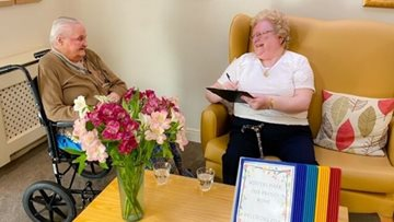 Centenarian shares words of wisdom at Penrith care home