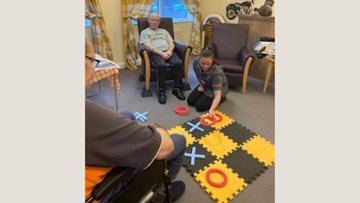 Residents enjoy a traditional games afternoon at Goole care home