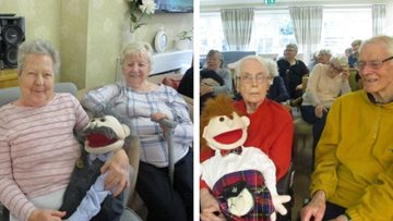 The Puppets put on a show at Park House