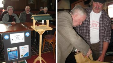 Stirling care home Residents take part in community men's club