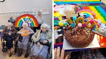 Community joins 100th birthday celebrations for Dukinfield care home Resident