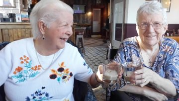 Lunchtime laughter for Manchester care home Residents