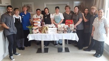 TK Maxx store send donation to Boston care home Colleagues
