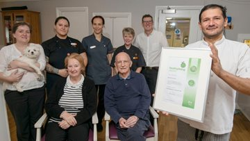 Caol care home receives Healthy Living Award