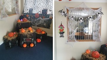 Fab-boo-lous decorations as Armley care home prepares for Halloween