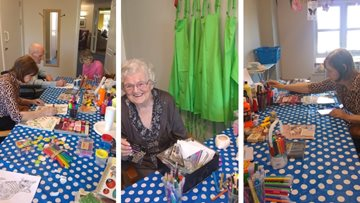 Uddingston care home unveils new arts and crafts room