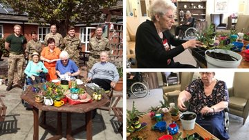 RAF Waddington's act of kindness transforms garden at Lincoln care home