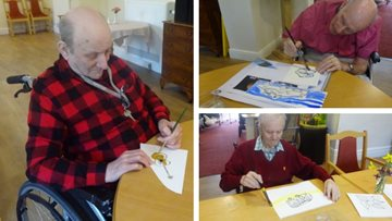 Residents embrace their creative side at Warrington care home
