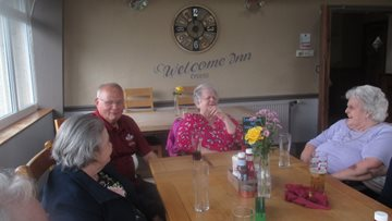 Lunchtime laughter for Swansea care home Residents