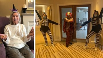 Newcastle care home Residents enjoy a Spooktacular Halloween weekend