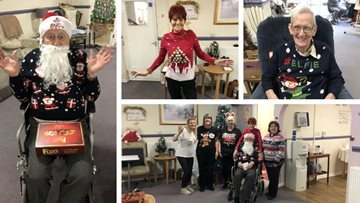 Christmas Jumper Day is a success at Ilkeston care home