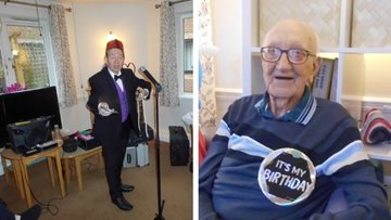 90th birthday celebrations at Newcastle care home
