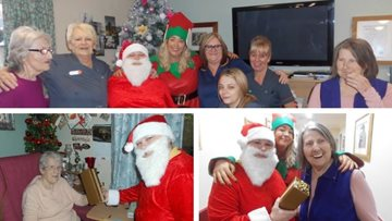 Santa Claus makes a special visit to Salford care home
