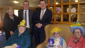 Egg-citing Easter bonnet competition at Bellshill care home