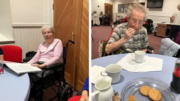 Forfar care home Residents enjoy local musical memory café