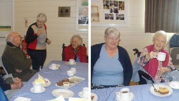 Essex care home Residents visit community coffee morning