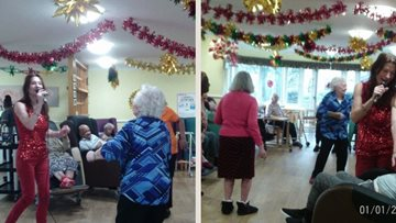 New year celebrations at Mornington Hall care home