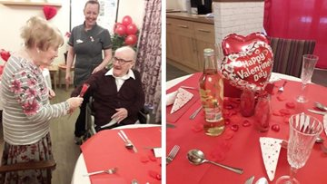 Hamilton care home celebrates Valentine's Day