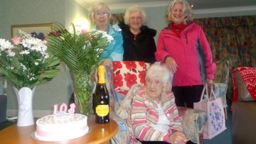 Roseberry Court Resident celebrates 103rd Birthday