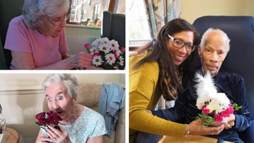 International Flower Day at Tipton care home