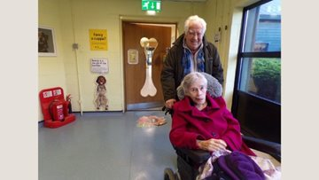 Harefield care home Residents visit Dog's Trust
