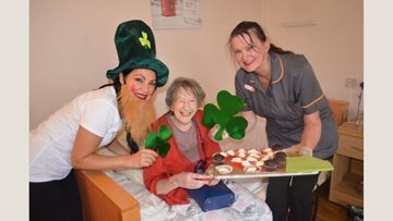 St Patrick's day celebrations at Aston House