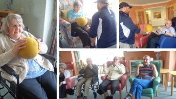 Residents keep fit at Redcar care home
