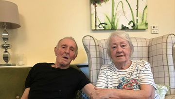 Couple reunited at Hinckley care home