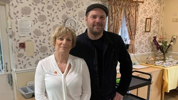 Michelin Star Chef treats residents at Amerind Grove care home to fish and chips Friday