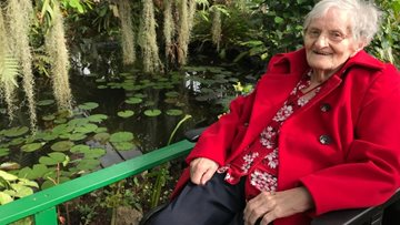Newton Aycliffe care home Residents visit Butterfly World