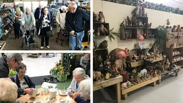 Prescot care home Residents visit local garden centre