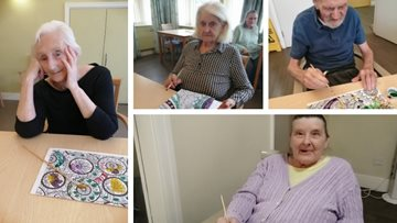 Arts and crafts are a success at Newton Heath care home