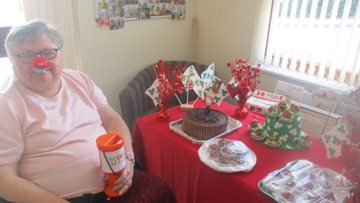 Sheffield care home wears red in support of Comic Relief