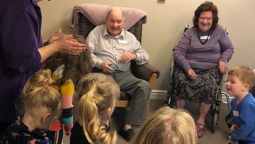 Young meets old at Cherry Willingham care home
