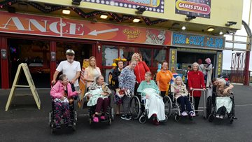 Sunnside enjoy a Blackpool day out