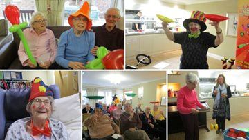 The circus is in town for Residents at Guisborough care home