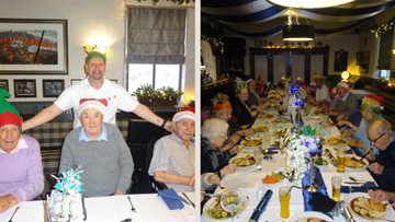 Spennymoor care home Residents enjoy festive meal