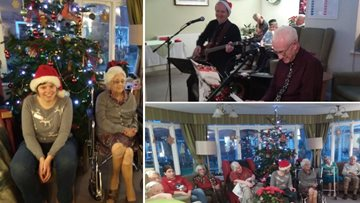 Residents celebrate the festive season at Brompton House Christmas party