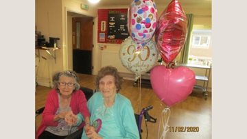 Birthday celebrations for Ilford care home Resident