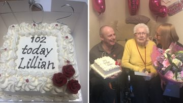 Double birthday celebrations as Victoria Park Resident turns 102