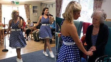 Fun-filled 50's entertainment for Old Gates Residents