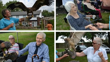 Birds of prey swoop in to Skellingthorpe care home