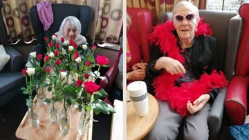 Love is in the air at Woking care home