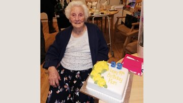 99th birthday celebrations for the Beeches Resident Catherine