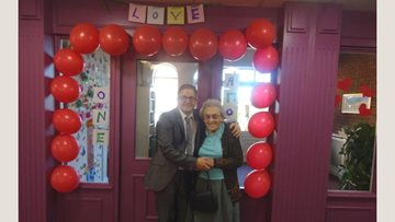 Valentine's Day celebrations at Brooklands care home