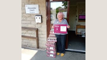 Sheffield care home enjoys donation from Costa Coffee