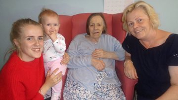 Resident speaks her first word in years to her great granddaughter