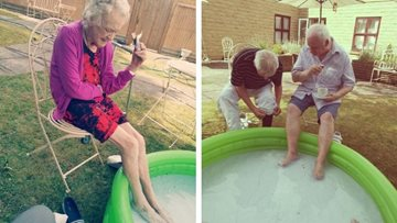 Luton care home Residents enjoy a splashing good time